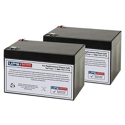 12V 12Ah F2 Sealed Lead Acid (SLA) Replacement Battery Set for Variflex Stinger Electric Scooter