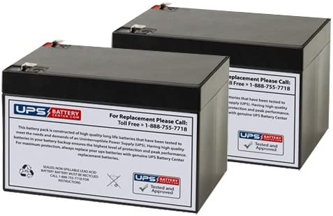 12V 12Ah F2 Replacement Battery Set for Minuteman MSU 1000i