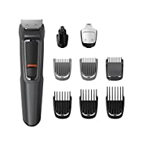 Philips MG3757 Groming Kit Serie 3000 Rifinitore 9 in 1 Barba, Baffi e Capelli