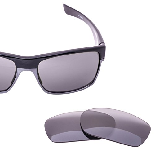 LenzFlip Sunglass Replacement Lens for Oakley TWOFACE - Gray Black Polarized with Chrome Mirror - Cheap Oakleys Polarized