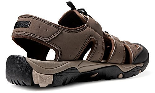 AT-M106-CBN_Men 10 D(M) Atika Men's Sports Sandals Trail Outdoor Water Shoes 3Layer Toecap (Mens Water)