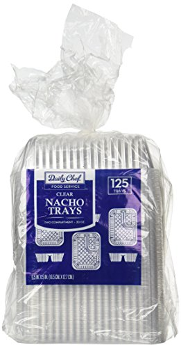 Disposable Clear Plastic Nacho Trays product image