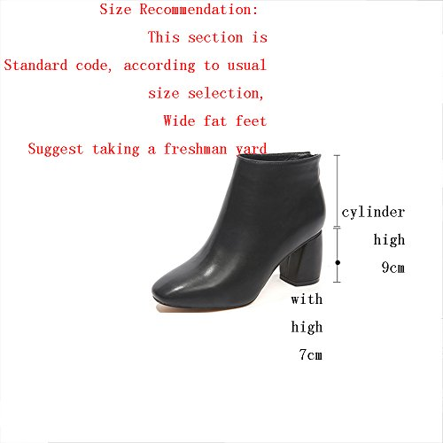 de Tacón Salvaje GYHDDP Tamaño con Boots Moda 3 Opcional Tamaño áspera Little Zapatos Martin B Alto Colores Disponibles Pequeñas 36 Botitas Color RrIIqX8
