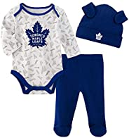 Newborn Toronto Maple Leafs Team Fanatic Long Sleeve Creeper, Pant, and Hat Set