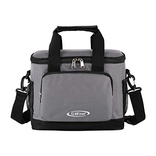 Insulated Lunch Bag, G4Free Lunch Box Cooler bag with Shoulder Strap, Leakproof Liner 18can for Office/Picnic/Travel/Camping ()