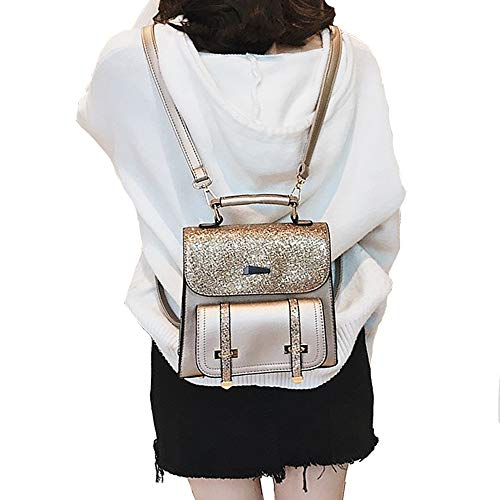 À Avec PU Sacs des Femmes Bag Shopping Voyage Filles École cuir Shoulder portés Sac FiveloveTwo Avec Backpack Main des ornements d'ours paillettes Sacs dos Épaule Or Bandoulière Sport 6aXqd8w