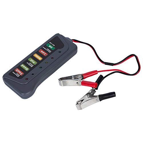 TERMALY Car Battery Tester Analyser,Car Battery Tools,Car Battery Testers,12V LED battery tester, car and motorcycle battery car battery portable detector: Amazon.co.uk: Garden & Outdoors