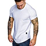 FORUU T Shirts for Mens, Hooded Hoodies Fake 2PCS Two Pieces Splice Casual Gradient Lapel Short Sleeve Tops Summer Holiday Girlfriend Lover Wife Party Beach Prom Cocktail Evening Club