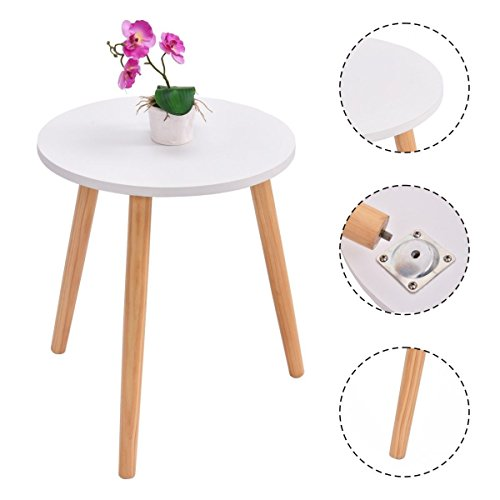 Modern Round Coffee Tea Side Sofa Table Living Room Furniture Home Decor - Coupon Glass New York