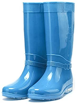Amazon.com | Hanxue Womens Wide Calf Rain Boots High