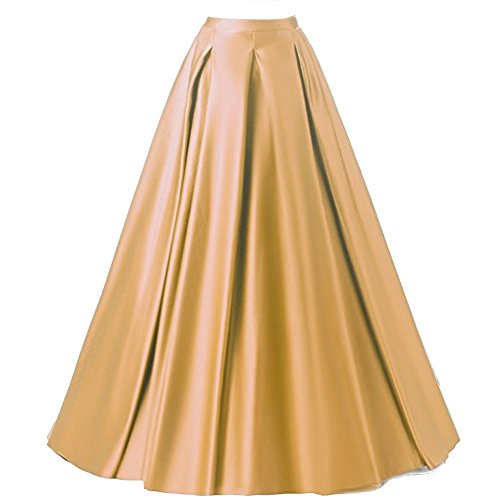 Gold Long Skirt - 8