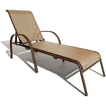 Amazon Com Strathwood Rawley Textilene Chaise Lounge