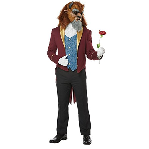 Mens Storybook Beast Disney Prince Costume size (Storybook Prince Adult Mens Costumes)