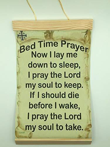 - Canvas Wall Hanging Bed Time Prayer, 8x12, w/Jerusalem Cross Symbol