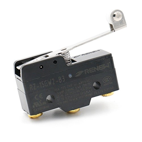 (Baomain Micro Switch RZ-15GW2-B3 3-screw Terminal Long Hinge Roller Lever AC DC Limit)