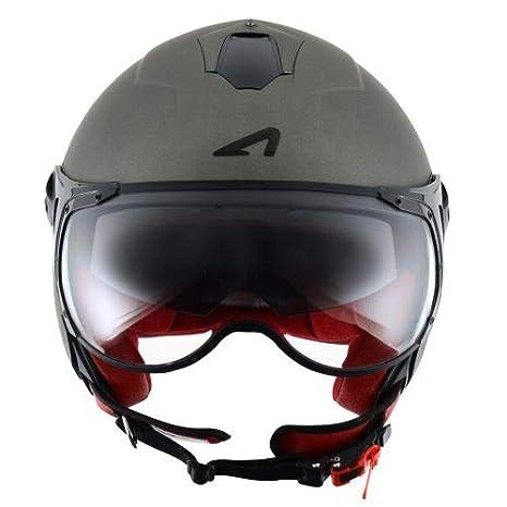 Gris Mate Casco de motocicleta Astone Helmets MINISPORT-MTIS Minijet Sport S