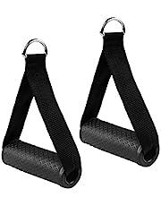 Dadabig 2 stuks eenhands handgrepen voor weerstandsbanden, siliconen handgrepen met massieve ABS-kernen, kabeltrekgreep voor fitnessbanden, tube Pro expander banden, triceps, training, rope, yoga, stretch, zwart