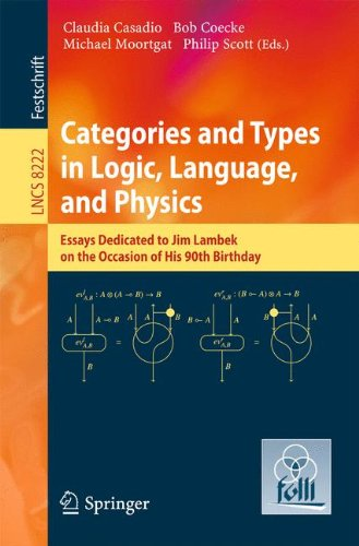 Categories and Types in Logic, Language, and Physics: Essays dedicated to Jim Lambek on the Occasion of this 90th Birthday (Lecture Notes in Computer Science) by Springer