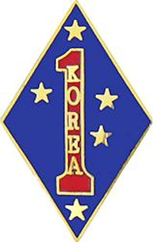 1st Marine Division Korea Small Hat Pin (Division Marine 1st Korea)