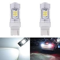 KaTur Super Bright H16 5202 LED Fog Bulb Daytime Lights Car DRL Driving Lamp 2835 21SMD Led Car Driving Daytime Running Lights Xenon White 6000K DC 12V 10.5W (Pack of 2)