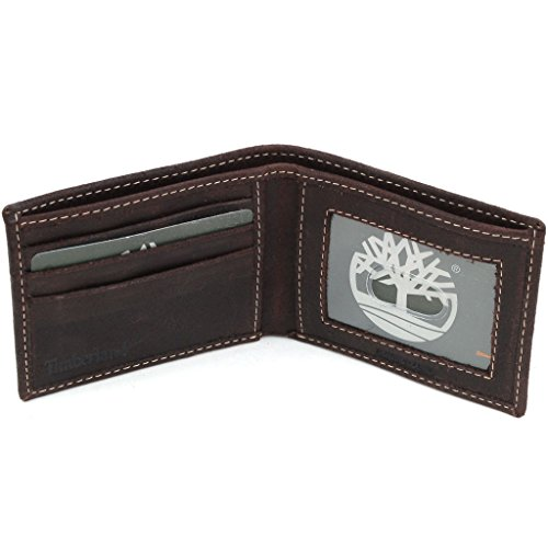 Genuine Delta Leather Timberland Slimfold Mens Wallet Rugged Bifold Thin ID Card