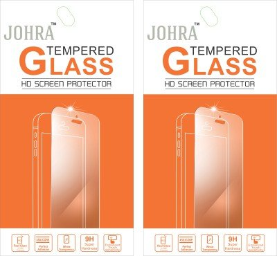 Johra Pack of 2 Tempered Glass Screen Scratch Guard Protector For HTC One A9