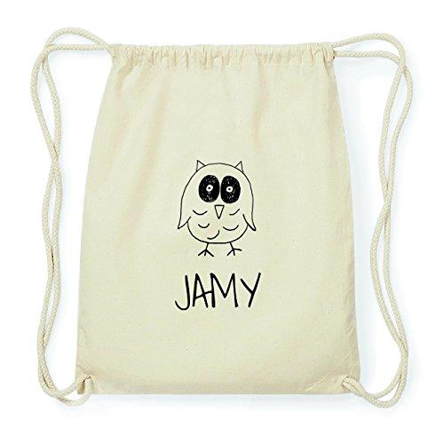 JOllipets JAMY Hipster Turnbeutel Tasche Rucksack aus Baumwolle Design: Eule igMRo3eMzi