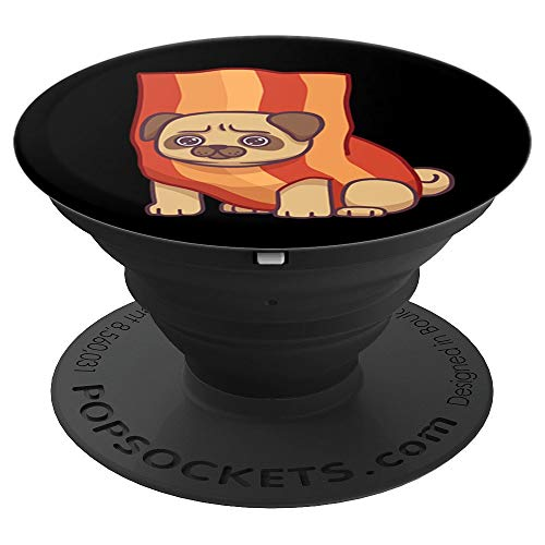Pug Puppy Dog In Bacon Costume Funny Halloween Gift - PopSockets Grip and Stand for Phones and Tablets -