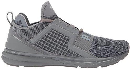 Puma Mens Ignite Illimité Knit Sneaker Calme Ombre / Puma Argent