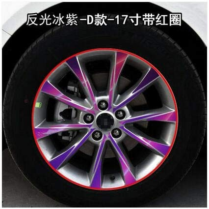 Reflective Purple Plating Brightly 17 inch Rims Wheels Sticker for Ford Mondeo Z2CA529A  (color Name  Glitter Black)