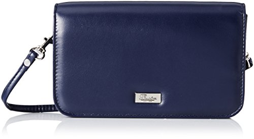 Buxton Crossbody Mini Cross Body Bag, Navy, One Size (Blue Leather Handbags)