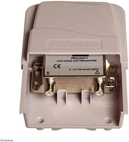 Amplificador de UHF de alta ganancia de mástil (27dB): Amazon ...