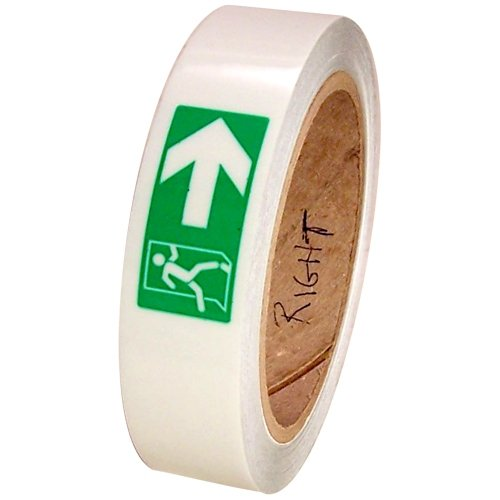 Photoluminescent Safety Tape - High Energy Photoluminescent glow in the dark tape , 1