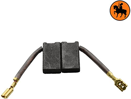 Buildalot Specialty Carbon Brushes ca-17-15245 for DeWalt Saw DW744XP - 0.25x0.49x0.85 - With Automatic Stop, Spring, Cable and Connector - Replaces original parts 381028-02