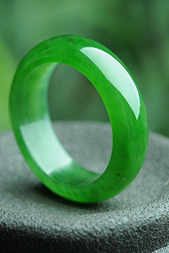 (Natural Nephrite Jade Ring Ring Ring Crack-Free Green Spinach Jade Ring Jade Jewelry Jade Send Certificates (18)
