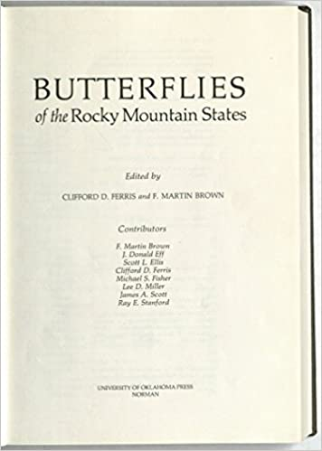 Butterflies Of The Rocky Mountain States Clifford D Ferris