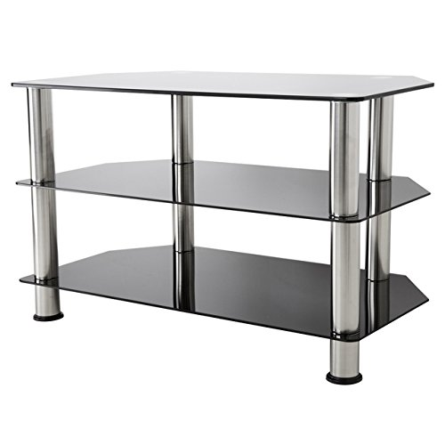 AVF SDC800-A  TV Stand for up to 42-inch TVs, Black Glass, C