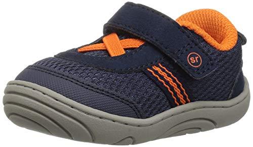 Stride Rite Boys' SR-Jackson Sneaker, Navy/Orange 5 M US Toddler
