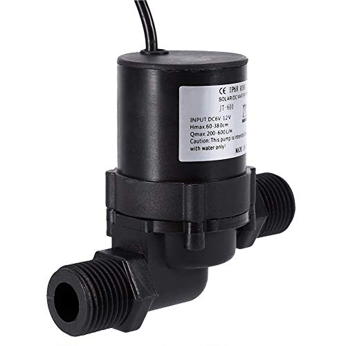 Pumps - Dc 12v Solar Water Circulation Pump Brushless Motor 600l H Ip68 Waterproof Plug - Leather Puller Decoration Digital Tank Disconnect Filter Control Above Shaft Machine Decor Installation