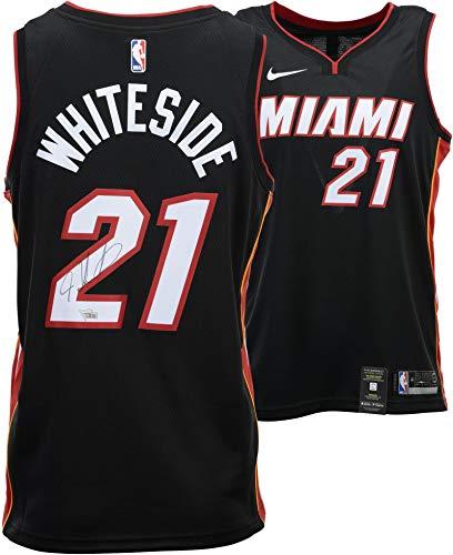 Hassan Whiteside Miami Heat Autographed Black Nike Swingman Jersey - Fanatics Authentic Certified - Autographed NBA Jerseys