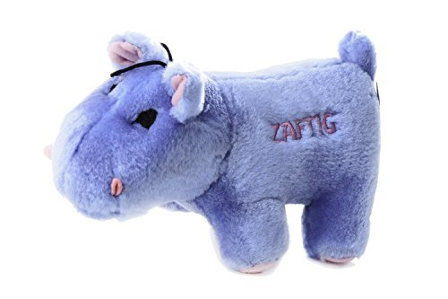 Copa Judaica Chewish Treat Zaftig Hippo Squeaker Plush Dog Toy 7 by 3 by 4-Inch Blue [parallel import goods] ()