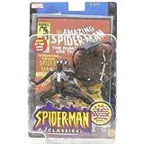 "Spider-man Classics BLACK COSTUME SPIDER-MAN 6"" Action Figure (2000 Toy Biz)"
