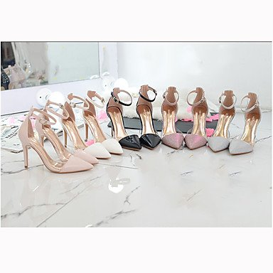 Sandalias CN33 Fashion 4 Zapatos vestido Charol 5 de Zapatos mujer verano Boda Club UK2 Boda cóctel de US4 de Boda 5 Fashion parte Club diario 2 EU34 ZRwFZrq