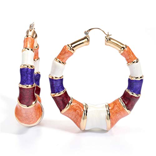 - Big Cloisonne Hoop Earrings Dubai Champagne Gold Nigerian Wedding African Jewelry Long Dangle Earrings For Women