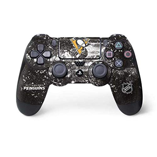 (Skinit Pittsburgh Penguins Frozen PS4 Controller Skin - Officially Licensed NHL Gaming Decal - Ultra Thin, Lightweight Vinyl Decal)