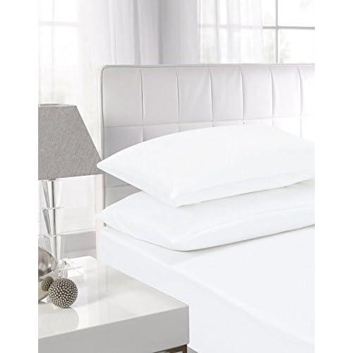 King Size Fitted Sheet White Amazon Co Uk