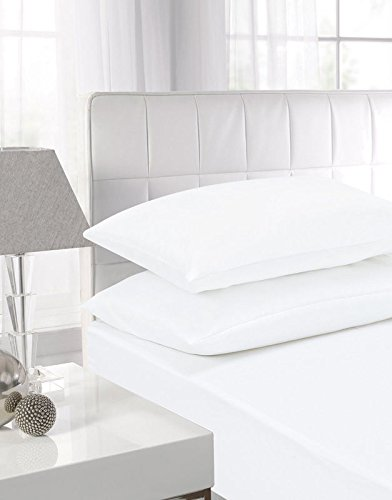Super King White 16u0026quot;/40CM Extra Deep Fitted Sheet 14 Colours