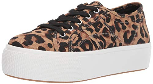 Steve Madden Women's EMMI Sneaker, Leopard, 8 M US (Shoes Madden Women Sneakers Steve)