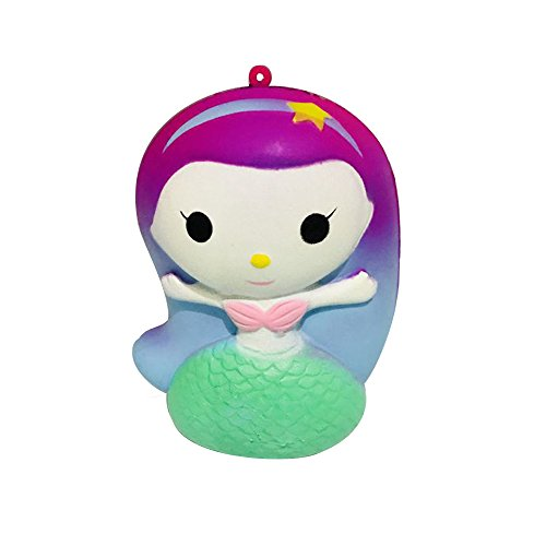 Anboor Squishies Mermaid Kawaii Slow Rising Scented Soft Squishies Stress Relief Squeeze Kid Toys hot sale