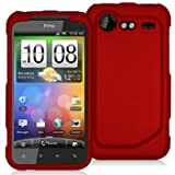 Red Rubberized Snap-On Hard Skin Case Cover for HTC Droid Incredible 2 6350 by Electromaster